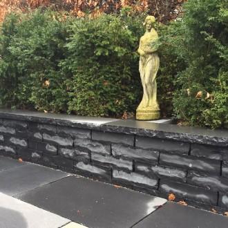 havemur black limestone havemur med topsten