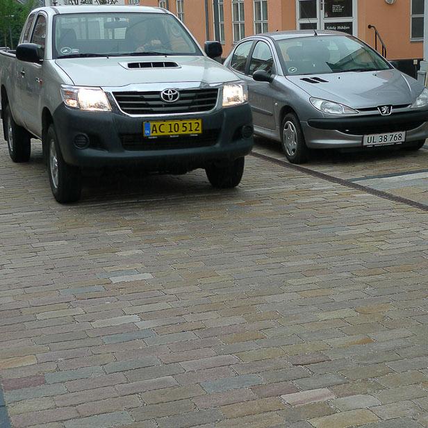 Gade med sandsten fra Sandstone.dk