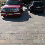 parkeringsplads flise natursten rustik