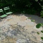 Sandstone Olive rund terrasse