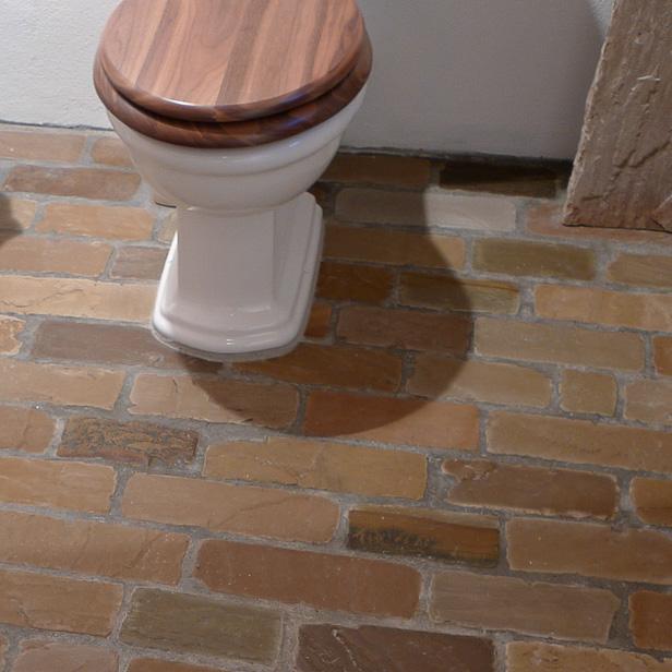 Sandstone Olive som badeværelse gulv