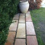 Sandsten bordure sten trædebregner