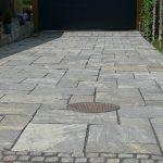 chelsea mønster i indkørsel dark sandstone