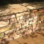 Rustik mur i Sandstones udstilling