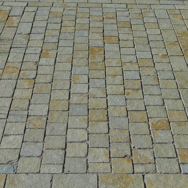 Ekstra chaussésten 10x10x8-10 cm - Sandstone Natursten QL17