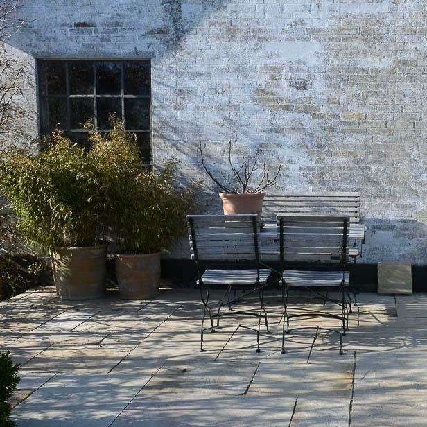 natursten sandsten Sandstone udstilling Sjælland Chelsea stemning på terrassen