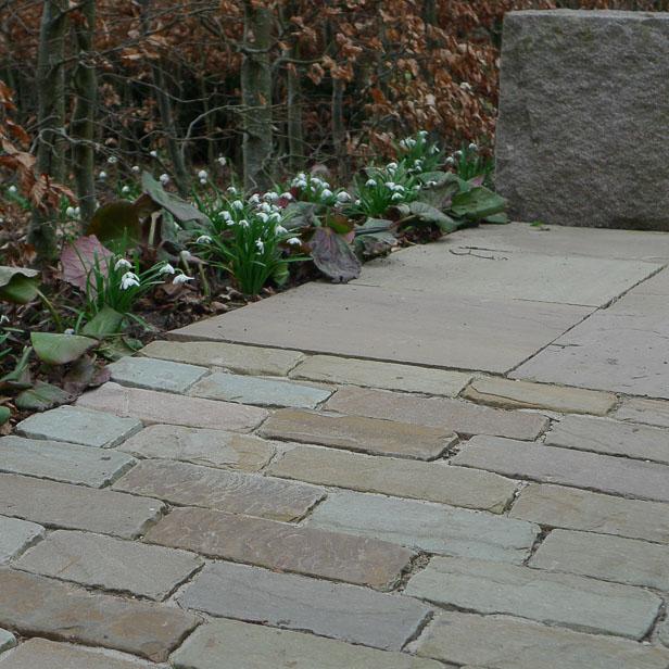 natursten sandsten Sandstone udstilling Sjælland opkørsel Olive sandstone