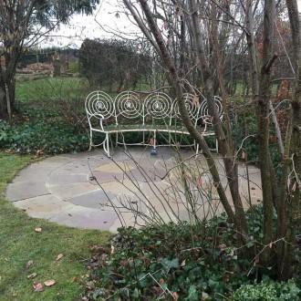 natursten sandsten Sandstone udstillingshaver rund terrasse cirkelterrasse olive