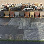 natursten sandsten Sandstone udstillingshaver mange farver sten