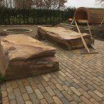 natursten sandsten Sandstone udstillingshaver store sandsten stenblokke Sandstone Olive rå blokke