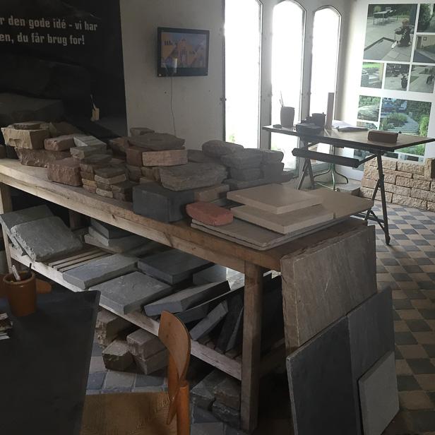 natursten sandsten Sandstone udstilling prøver af sandsten, specialprodukter