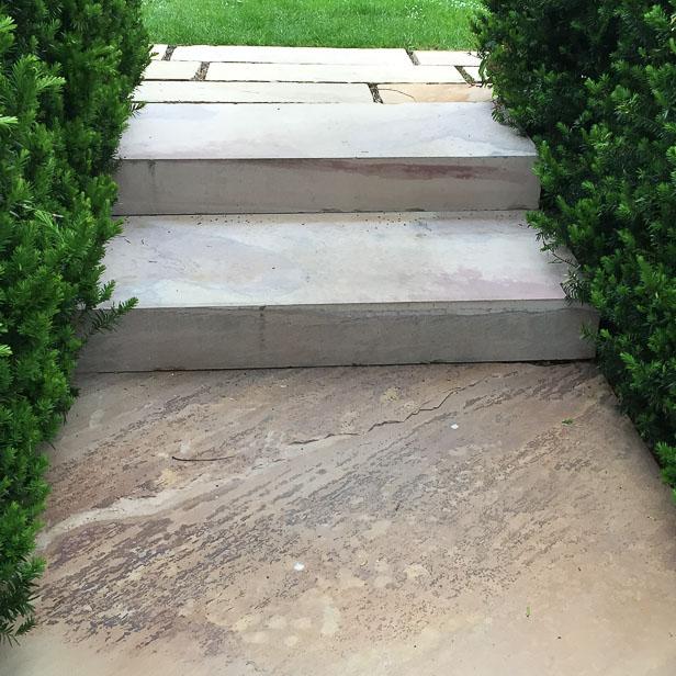 natursten sandsten Sandstone udstillingshaver special trin skåret top