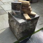 natursten sandsten Sandstone udstillingshaver stor stenblok